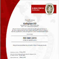ISO 9001:2015 Certificate ENG